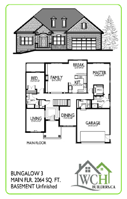 New home construction atlantic canada maritimes nova for Bungalow floor plans canada